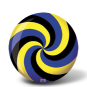 SPIRAL BLACK BLUE YELLOW BRUNSWICK