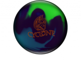 BOWLINGOVA KOULE EBONITE CYCLONE PURPLE TEAL LIME
