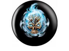 FLAMINNG BLUE SKULL BALL OTB